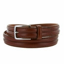 """S067/30 Men's Italian Leather Dress Casual Belt 1-1/8"""" Wide Made in Italy - Marrone (Brown)"""