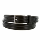 """S067/30 Men's Italian Leather Dress Casual Belt 1-1/8"""" Wide Made in Italy - Nero (Black)"""