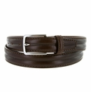 """S067/30 Men's Italian Leather Dress Casual Belt 1-1/8"""" Wide Made in Italy - T. Moro (Dark Brown)"""