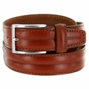 """S067/35 Men's Italian Leather Dress Casual Belt 1-3/8"""" Wide Made in Italy - Marrone (Brown)"""