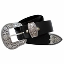 "S5521 Men's Western Full Grain Leather Belt 1 1/2"" Wide"