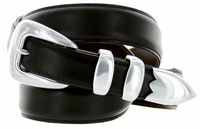 S5525 Men's Black Smooth Dress Leather Belt