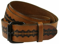 Saundry Western Designer Full-Grain Leather Belt $29.95