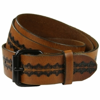 Saundry Western Designer Full-Grain Leather Belt