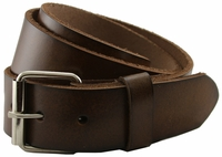 "Seris 100% Leather Full Grain Cowhide Roller Belt - Brown 1.5"" Wide $29.95"
