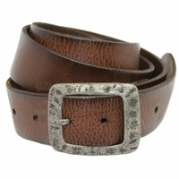SF933040 Men's Full Grain Leather Casual Jean Belt -Dark Brown