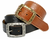 SF933085 Western Tooled Full Grain Leather Belt