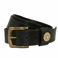 Shotshell Mens Leather Casual Belt -Black
