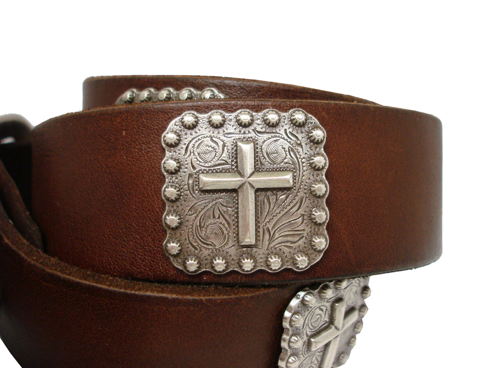silver cross berry conchos s grain leather