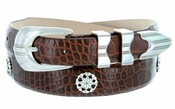Silver Golf Star Men's Leather Golf Belt $39.50