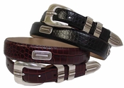 Silver Vincente Italian Leather Golf Belt