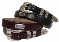 Silver Vincente Italian Leather Golf Belt $39.50