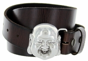 Smiling Buddha Belt Buckle Casual Jean Leather Belt