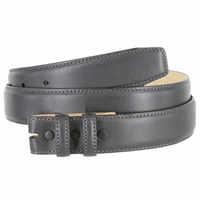 """Smooth Genuine Leather Belt Strap 1 1/4"""" wide (32mm) - Charcoal Gray"""