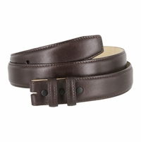 """Smooth Genuine Leather Belt Strap 1 1/4"""" wide (32mm) with Two Loop - Brown"""