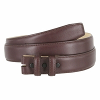"""Smooth Genuine Leather Belt Strap 1 1/4"""" wide (32mm) with Two Loop - Burgundy"""