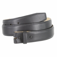 """Smooth Genuine Leather Belt Strap 1 3/8"""" wide (35mm) with Single Loop - Charcoal Gray"""