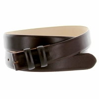 """Smooth Leather Belt Strap 1 1/8"""" wide (30mm) - Brown"""