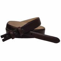 """Smooth Leather Belt Strap Taper 1 1/8"""" to 3/4"""" wide"""