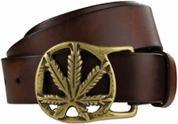 "Solid Brass Kush Buckle Full Grain Leather Belt 1-1/2"" wide $32.50"