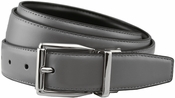 "Stafford Reversible Gray/Black Leather Dress Belt (1-1/8"" or 30mm)"