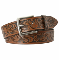 Stonehenge Men's Brown Leather Western Belt