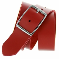 "Striker's Full Grain Italian Saddle Leather Casual Jean Belt 1 1/2"" Wide - Red"
