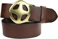 "Sunwheel 100% Full grain leather Casual Jean Belt- 1 3/4"" wide"