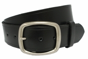 "Tennessee Silver Men's Leather Work Belt Uniform Belt 1 3/4"" Wide -Black"
