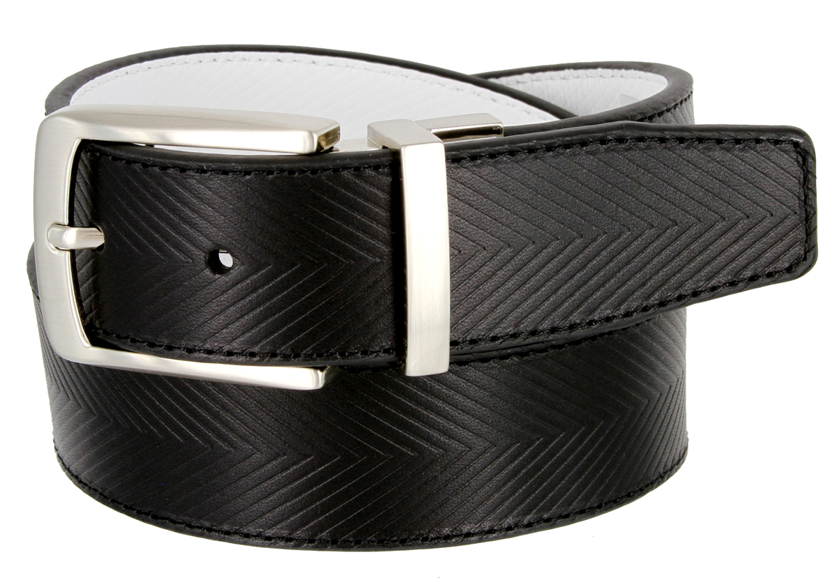 1207525 tiger woods embossed reversible leather golf belt