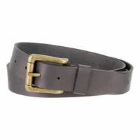 Timberland 35mm Oil Tanned Belt with Roller Buckle Black