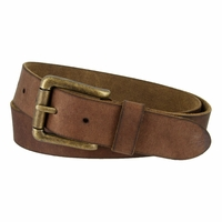 Timberland 35mm Oil Tanned Belt with Roller Buckle Brown