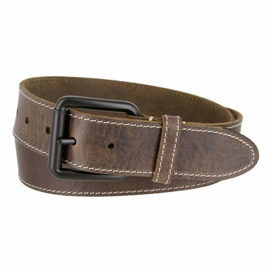 Timberland 38mm Edge Stitch Roller Buckle Belt Brown