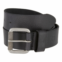 Timberland 40mm Milled Leather Belt with Grip Roller Buckle Black