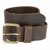 Timberland 40mm Milled Leather Belt with Grip Roller Buckle Dark Brown