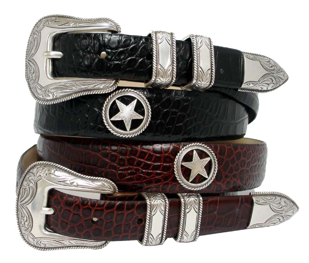 tombstone s conchos western leather belt