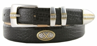 Towne Mens Italian Calfskin Leather Golf Designer Belt $39.50