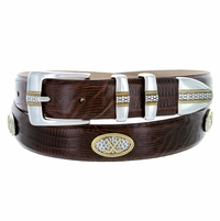 Towne Mens Italian Calfskin Leather Golf Designer Belt