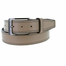 Triple Stitched Genuine Leather Golf Belt Beige