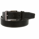 Triple Stitched Genuine Leather Golf Belt Black