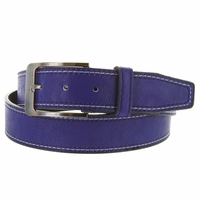 Triple Stitched Genuine Leather Golf Belt Purple