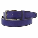 Triple Stitched Genuine Leather Golf Belt Royal Blue