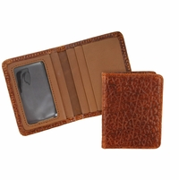 Tucson 123 Peanut-Tan Lejon Bison Leather Wallet Card Holder Made In USA