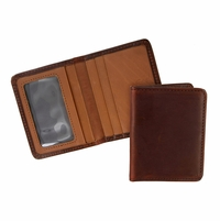 Tucson 126 Brown-Chroxml Lejon Bison Leather Wallet Card Holder Made In USA