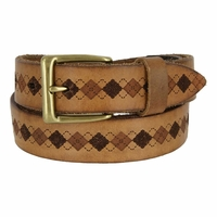 Tulliani Argyle Centerline Belt - Tan