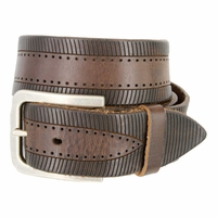 Tulliani Cingolo Tooled Leather Belt - Brown