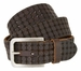 Tulliani Cross Perforated Tooled Belt - Brown2