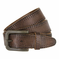 Tulliani Gradient Edge Perforated Belt - Brown