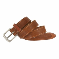 Tulliani Herringbone Tooled Belt - Tan