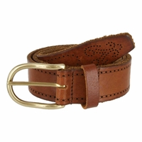 Tulliani Morse Tooled Leather Belt - Tan